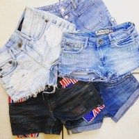 Vintage Denim Shorts Customised denim at St Cyr Vintage in Camden Market