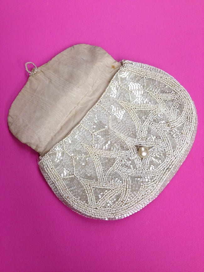 1920s Beaded Purse open vintage bag
