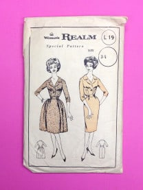 Woman's Realm 1950s Dress Pattern L19