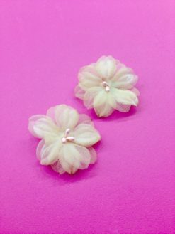 Light Pink Dainty 1950s Earrings