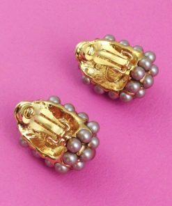 Beautiful Joan Rivers Clip On Earrings back
