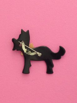 Lea Stein ploukie dog with bow