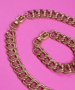 Vintage Givenchy Necklace & Bracelet Set chain necklace detail
