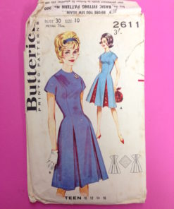 Butterick 1960s Teen Princess Dress Pattern 2611