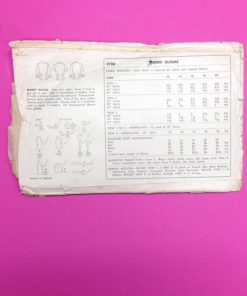 Simplicity 1940s Blouse Pattern 3700 back