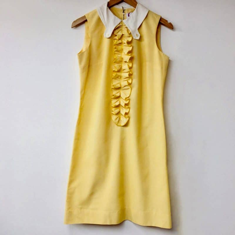 Photo of SCV 60s yellow dress with white collar