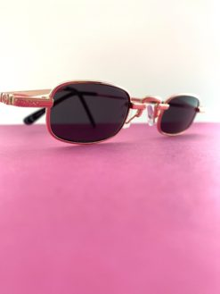 Rose Gold 90s Retro Rectangular Sunnies BAZ