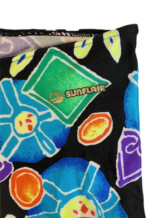 80s Bright Coloured Vintage Leggings by Sunflair - Size Small