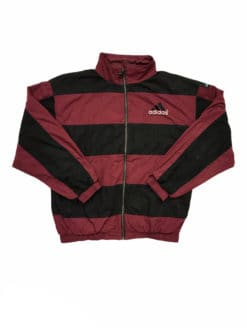 ADIDAS Equipment Jacket Vintage Shell Track Sports Jacket Black Red - Size UK Large